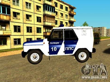 UAZ Hunter PPP para GTA San Andreas left