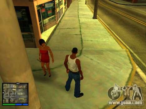 Pak pieles de las niñas para GTA San Andreas séptima pantalla