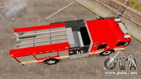Division on Fire Columbus Firetruck [ELS] para GTA 4 visión correcta