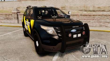 Ford Explorer 2013 Security Patrol [ELS] para GTA 4