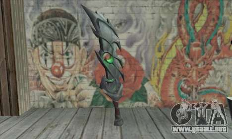 La espada de World of Warcraft para GTA San Andreas segunda pantalla