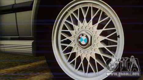BMW M5 E28 para GTA San Andreas vista posterior izquierda