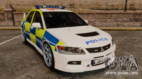 Mitsubishi Lancer Evolution IX Uk Police [ELS] para GTA 4