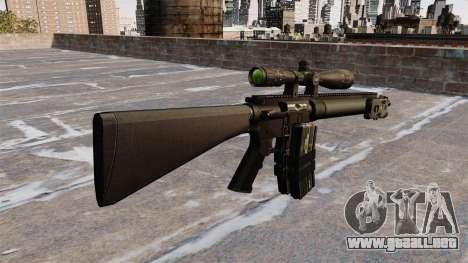 Rifle de francotirador Mk 12 para GTA 4 segundos de pantalla