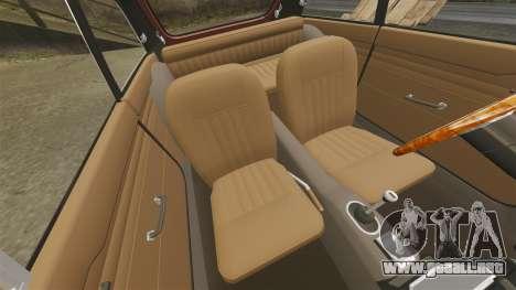 MG MGB GT 1965 para GTA 4 vista interior