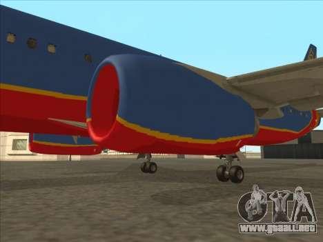 Boeing 737 Southwest Airlines para vista inferior GTA San Andreas