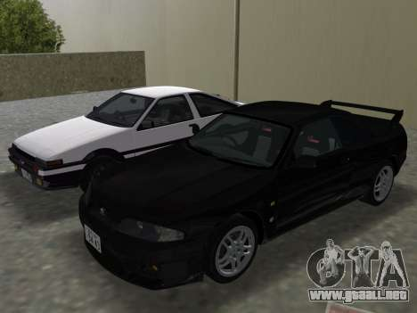 Nissan SKyline GT-R BNR33 para el motor de GTA Vice City
