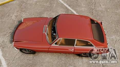 MG MGB GT 1965 para GTA 4 visión correcta