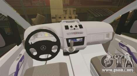 Mercedes-Benz Vito Metropolitan Police [ELS] para GTA 4 vista hacia atrás