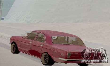GAZ Volga 2410 caliente Road para GTA San Andreas vista posterior izquierda