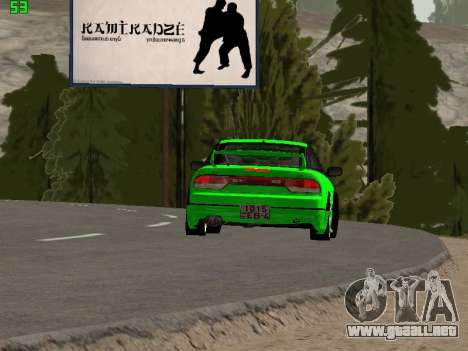 Nissan 240SX Drift Version para vista lateral GTA San Andreas