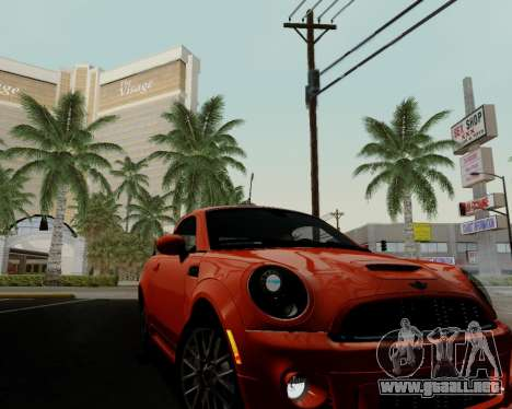 MINI Cooper S 2012 para vista inferior GTA San Andreas