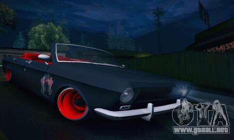 GAZ Volga 24 Cabriolet para vista lateral GTA San Andreas