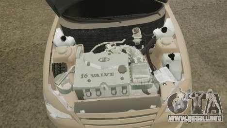 Vaz-2112 híbrido para GTA 4 vista hacia atrás