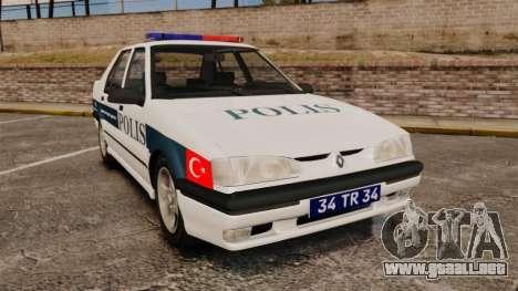 Renault 19 Turkish Police para GTA 4