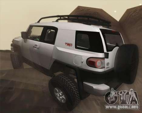Toyota FJ Cruiser 2012 para la vista superior GTA San Andreas