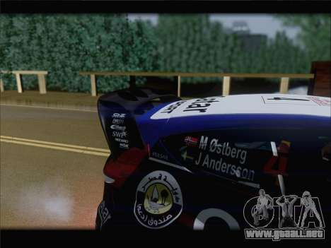 Ford Fiesta RS WRC 2013 para visión interna GTA San Andreas