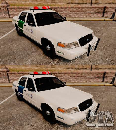 Ford Crown Victoria 1999 U.S. Border Patrol para GTA 4 vista interior