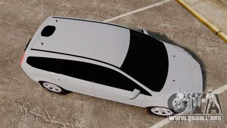 Ford Focus Estate 2009 Unmarked Police [ELS] para GTA 4 visión correcta