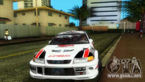 Mitsubishi Lancer Rally para GTA Vice City vista posterior
