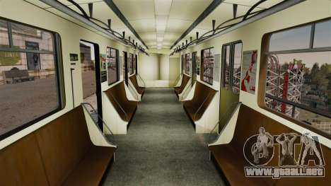 El director del Metro del carro modelo 81-717 para GTA 4 segundos de pantalla