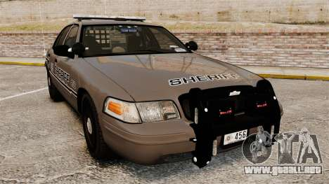 Ford Crown Victoria 2008 Sheriff Patrol [ELS] para GTA 4