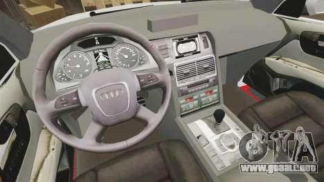 Audi Q7 Enforcer [ELS] para GTA 4 vista hacia atrás