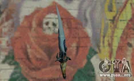 Cuchillo del príncipe de Persia para GTA San Andreas segunda pantalla