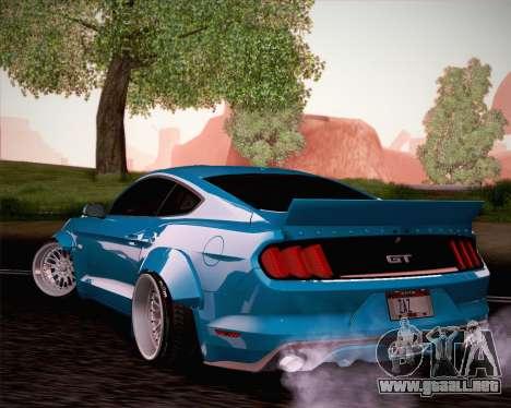 Ford Mustang Rocket Bunny 2015 para visión interna GTA San Andreas