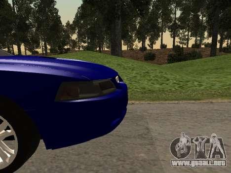 Ford Mustang GT 1999 para GTA San Andreas vista hacia atrás