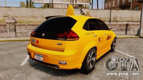 Habanero Taxi para GTA 4 Vista posterior izquierda