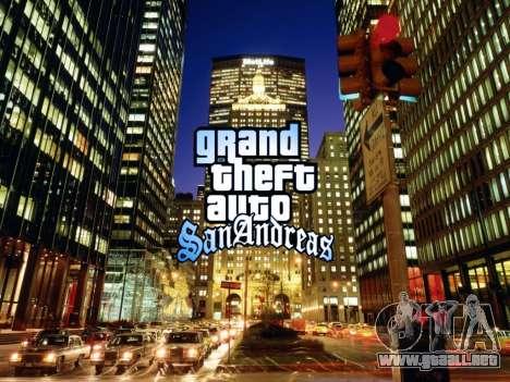 Loadscreens New-York para GTA San Andreas segunda pantalla