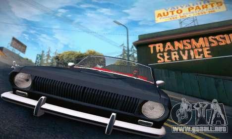 GAZ Volga 24 Cabriolet para visión interna GTA San Andreas