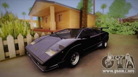 Lamborghini Countach 25th Anniversary para GTA San Andreas vista hacia atrás
