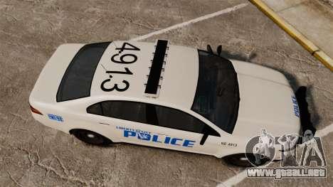 GTA V Vapid Police Interceptor LCPD [ELS] para GTA 4 visión correcta