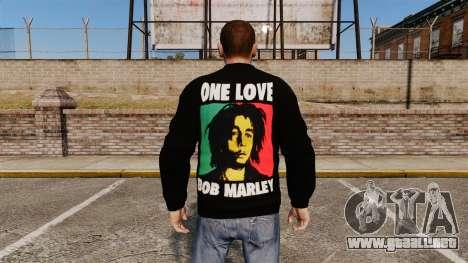 Suéter-Bob Marley- para GTA 4 segundos de pantalla
