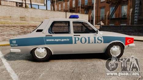 Renault 12 Turkish Police para GTA 4 left