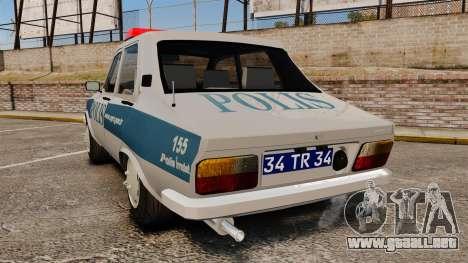 Renault 12 Turkish Police para GTA 4 Vista posterior izquierda