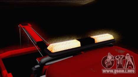 Chevrolet C20 Towtruck 1966 1.01 para visión interna GTA San Andreas