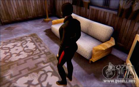 Lady Shiva en el juego Batman Arkham orígenes para GTA San Andreas tercera pantalla