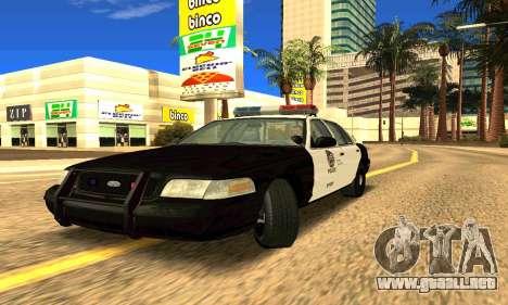 Ford Crown Victoria Police LV para GTA San Andreas left