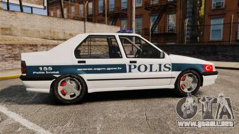 Renault 19 Turkish Police para GTA 4 left