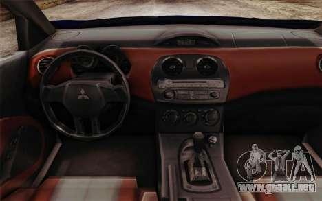 Mitsubishi Eclipse GT v2 para la visión correcta GTA San Andreas