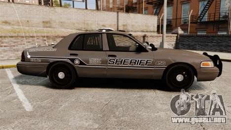 Ford Crown Victoria 2008 Sheriff Patrol [ELS] para GTA 4 left
