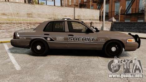 Ford Crown Victoria 2008 Sheriff Patrol [ELS] para GTA 4 left