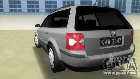 Volkswagen Passat B5+ Variant 1.9 TDi para GTA Vice City vista lateral izquierdo