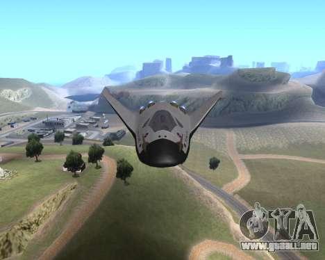 FARSCAPE modul para GTA San Andreas vista hacia atrás