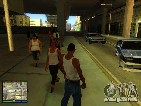 Pak pieles de las niñas para GTA San Andreas octavo de pantalla