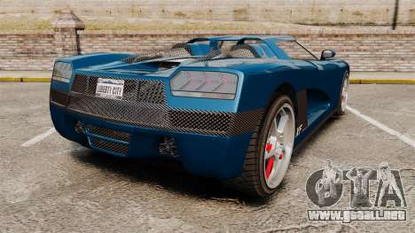 GTA V Entity XF para GTA 4 Vista posterior izquierda