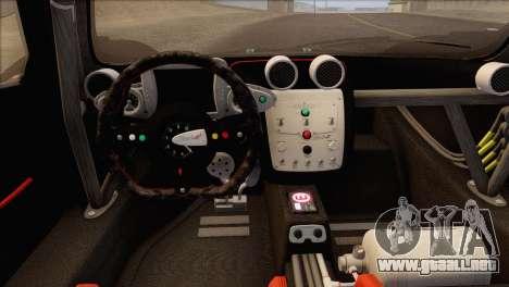 Pagani Zonda R SPS v3.0 Final para visión interna GTA San Andreas